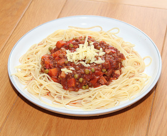Spaghetti Bolognese, The Veggie Way