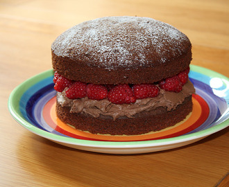 Chocolate & Raspberry Sponge Cake