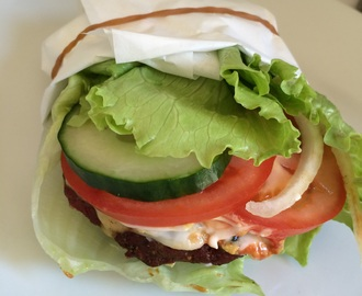 Low Carb Burger i Salatblad