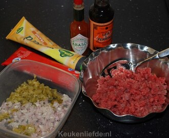 Zelf filet americain of steak tartare maken