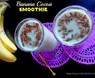 Banana Cocoa smoothie | Banana Cocoa (innovative)Lassi,Indian style smoothie