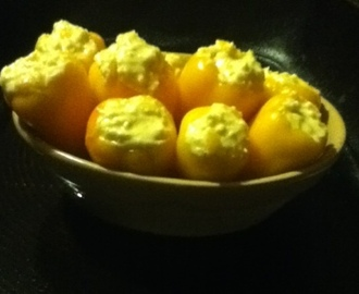 Feta Stuffed Sweet Peppers