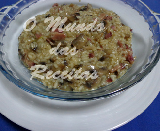 Risotto de Cogumelos e Bacon