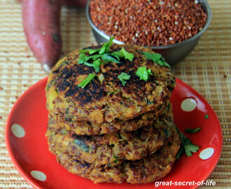 Sweet potato Quinoa Patties / Sweet potato Quinoa cutlet - Healthy snack