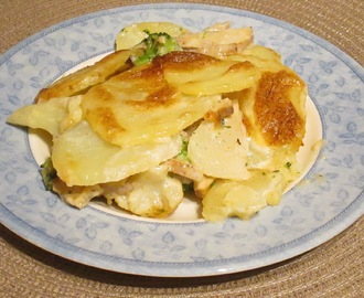 Potato Dauphinoise with Quorn Fillet and Vegetables - Recipe