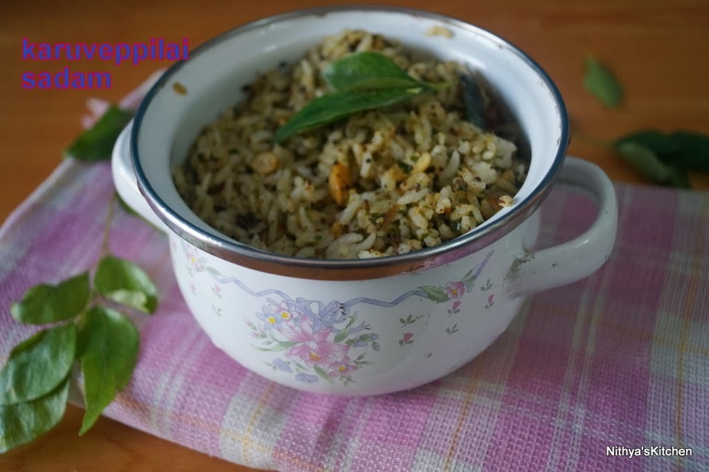 KARUVEPPILAI SADAM/CURRY LEAVES RICE