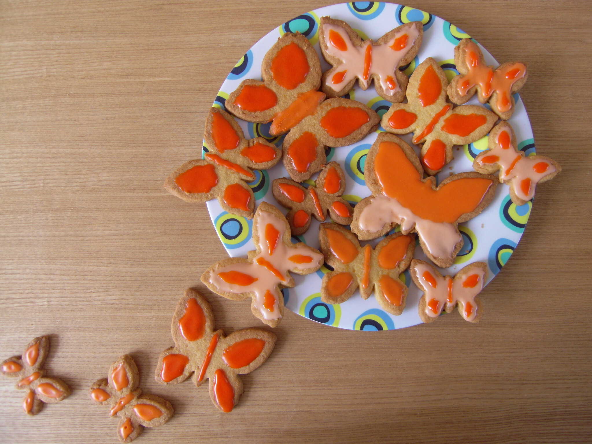 Orange Butterfly Iced Biscuits