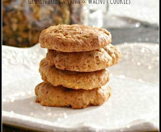 Gluten Free Banana & Walnut Cookies