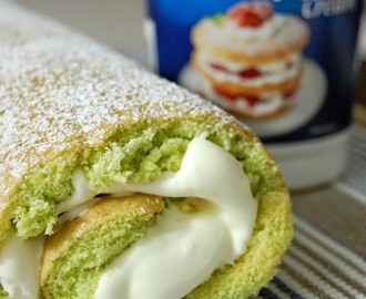 Pandan Swiss roll cake recipe