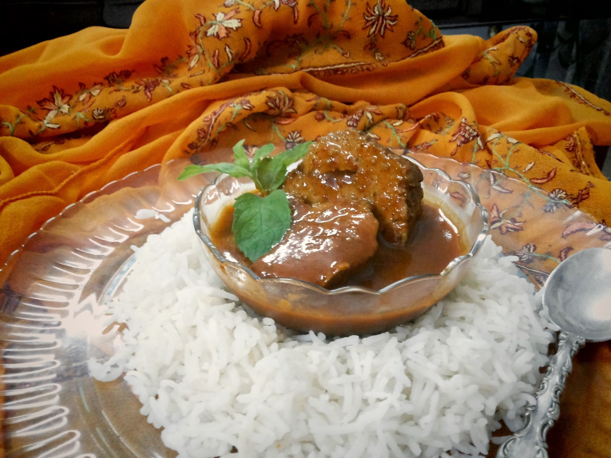 Kashmir and  Wazwaan- Rishta/Rista Meat Balls in a Spicy Red Gravy