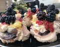 Lemon & blackberry meringue