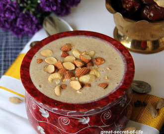 Dates Kheer - Payasam without sugar, ghee - Healthy Kheer - Pooja recipes - naivedyam recipe