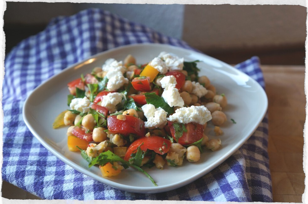 Chickpea and herb salad