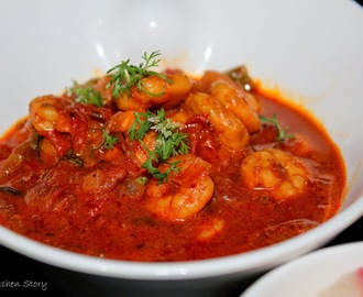 Prawn Curry cooked in Coconut milk