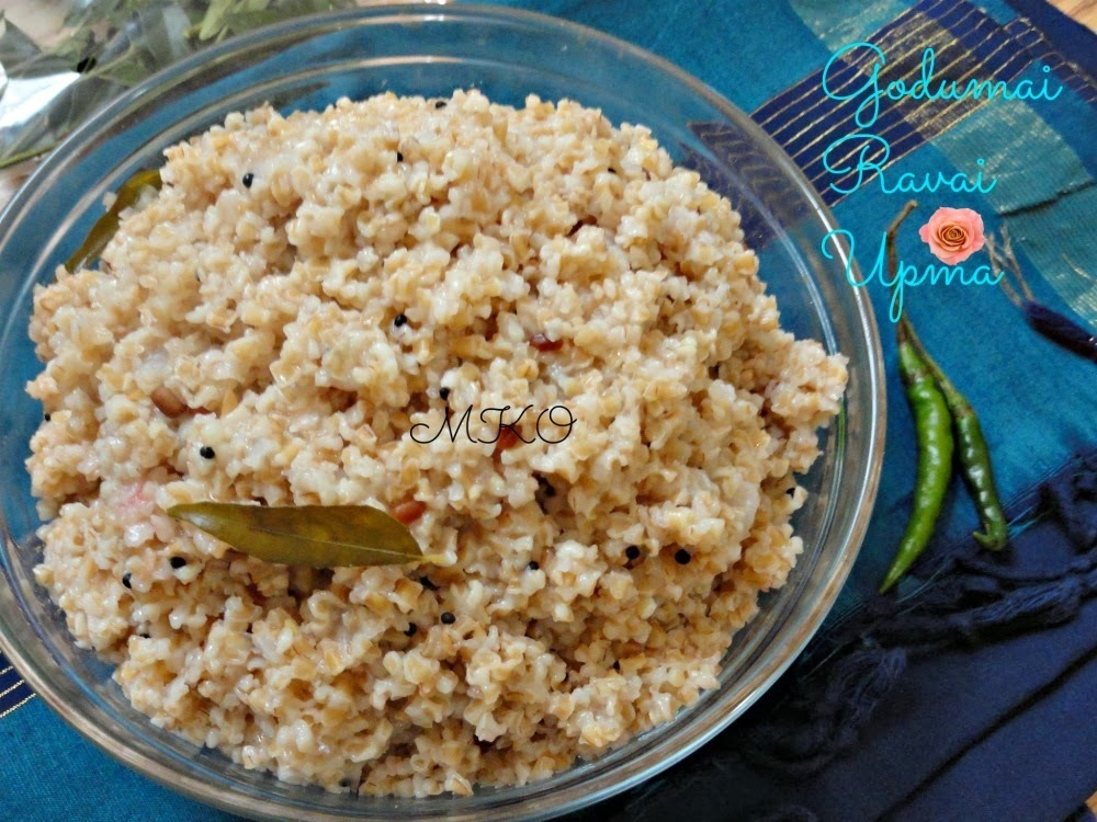 Broken Wheat Upma/Godhumai Ravai Upma/Easy Breakfast