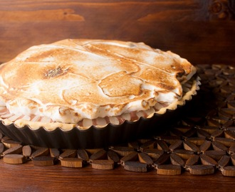 Tarte de Abóbora, mousse de chocolate e merengue italiano