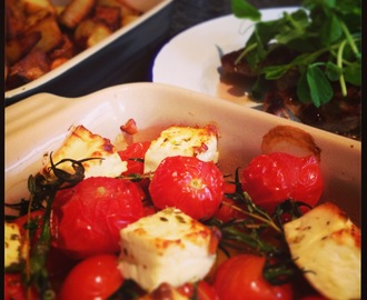 Lamb Chump Chops with 'Feta in the Oven' - Tea in a hurry!