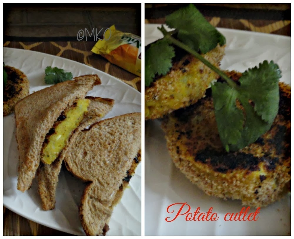 Grilled Potato Patty / Potato Cutlet