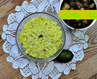 Lime rice/Lunchbox recipes/Easy rice recipes