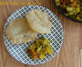 Potato masala/Poori Bhaji/Easy breakfast