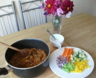 Really easy turkey mince curry