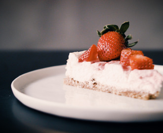 Gymgrossisten Kitchen - Strawberry Champagne Protein Cheesecake