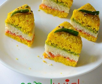 Sandwich Dhokla Recipe | Triple Decker Dhokla - Dhokla Recipe