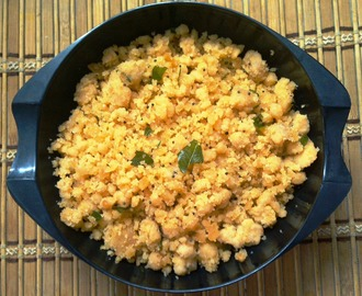 Tangy-Spicy Rice Flour Upma