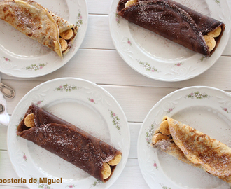 Nutella Plátano Crepes
