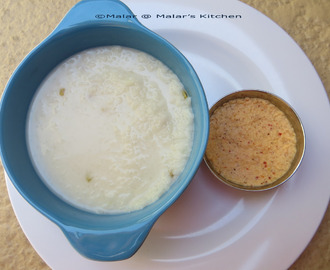 Coconut Rice Porridge and Coconut Dip/Thengai Kanji and Thengai Thuhayal