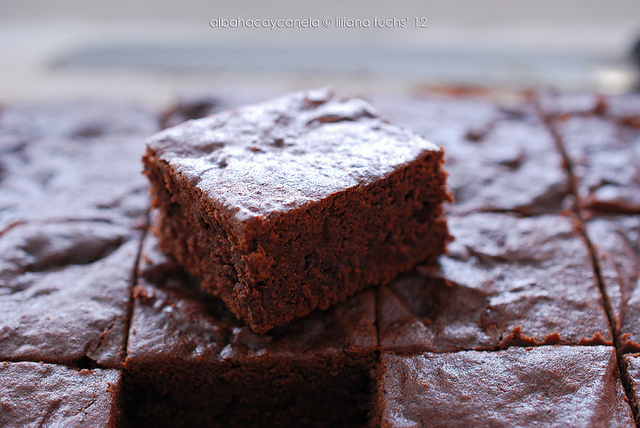 Brownie de chocolate negro con calabaza