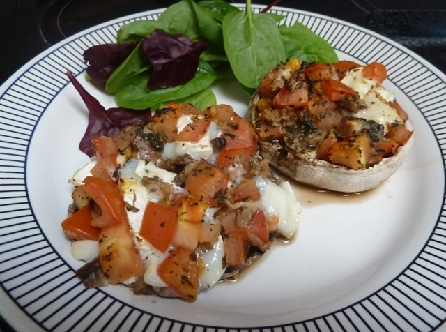 Tomato and Cheese Stuffed Mushrooms Recipe