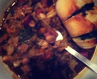 Recipe - Sausage, White Bean and Cabbage Stew