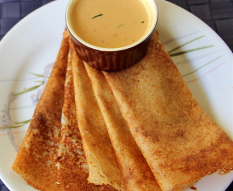 Quinoa Dosa - Indian Pancake with Quinoa - Healthy breakfast recipe