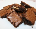 Brownies rellenos de chocolate blanco