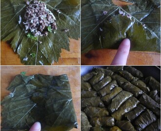 Lamb Stuffed Vine Leaves (Dolmades)