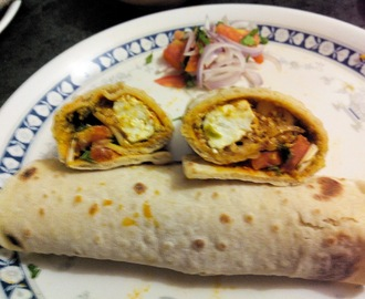 Paneer (Cottage Cheese) Shawarma Wrap