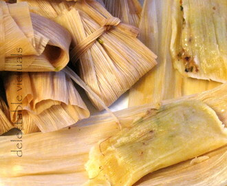 Vegetarian Tamales: Steamed Corn-husk Wrapped Snack with Tempeh