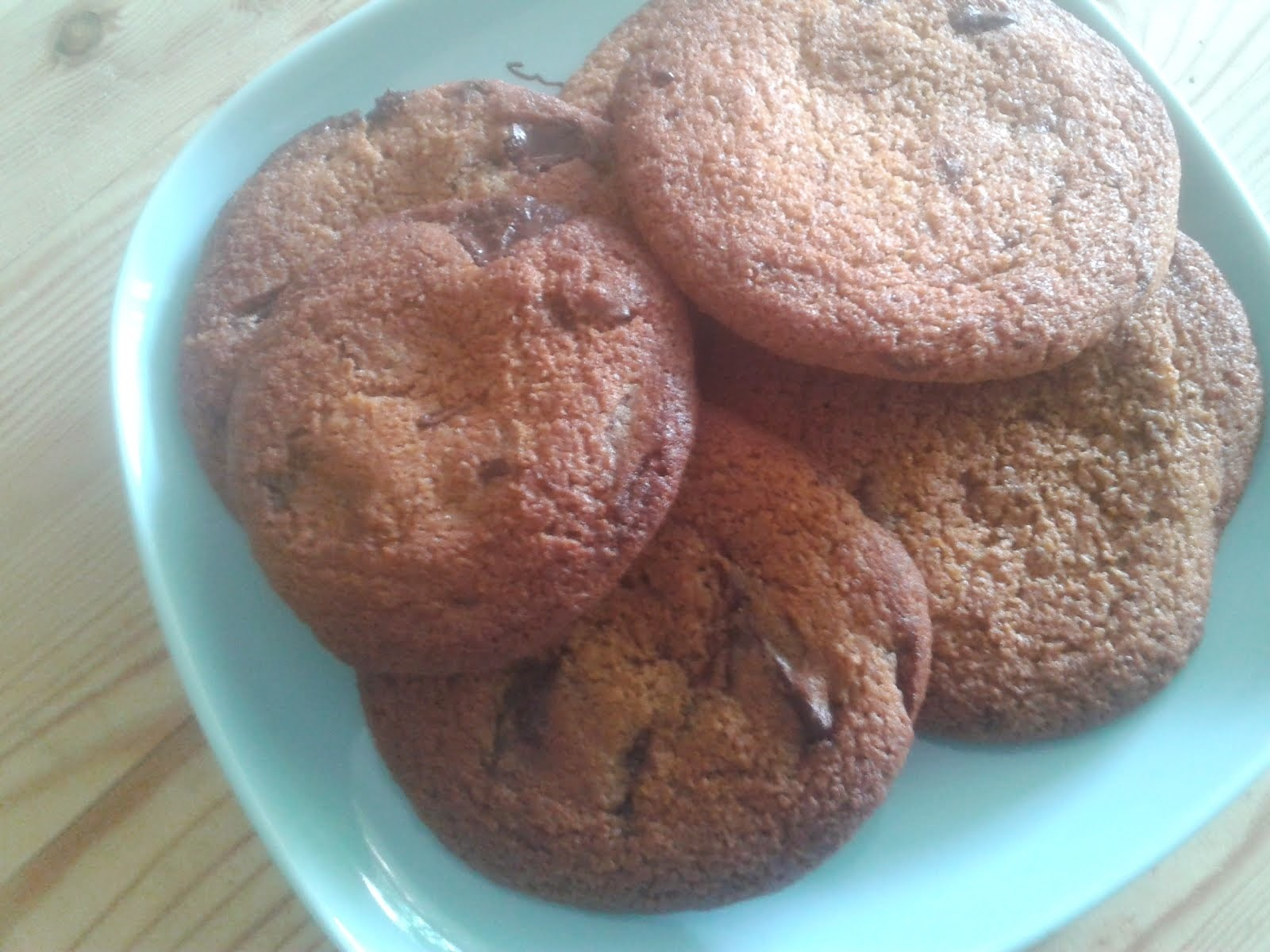 biscuits on a hot day - choc chip and wholemeal?