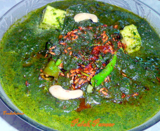 Dhaba Style Palak Paneer ( Spinach and Cottage cheese)