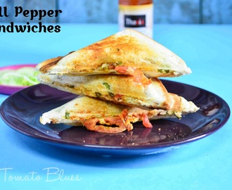 Indo Chinese Bell Pepper Sandwich Recipe| Sandwich Recipes