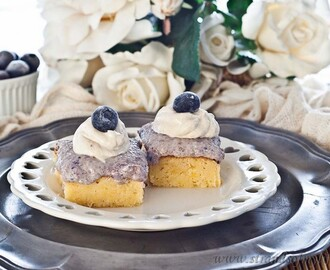 Blueberry Mousse Slice – gluten-free & low FODMAP