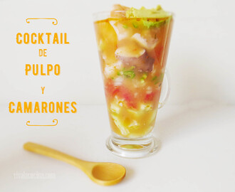 Cocktail de Pulpo y Camarones o Gambas
