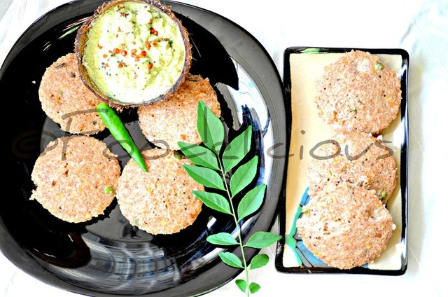 Instant Broken Wheat & Oats Idli with Oats and Coconut Chutney and Winner of 'Only' Sprouts