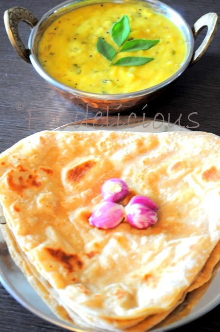 Jhunka - Chapati..DH's favourite breakfast, from Karnataka