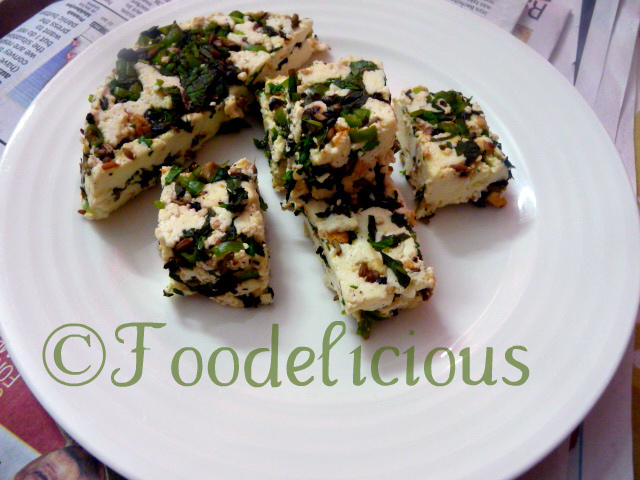 Hariyali Masala Cottage Cheese/Paneer..step by step, & New winner of Only Snacks & Starters