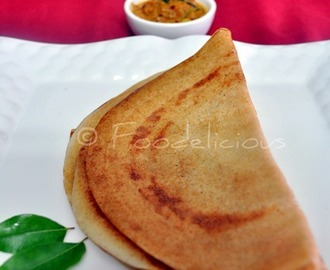 Brown Rice & Red Beaten Rice Dosa With Onion-Tomato Chutney | Indian Pancake | Vegan | Gluten Free | Dairy Free | Step Wise