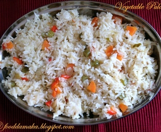 Quick and easy version of making vegetable pulao
