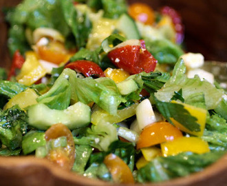 Chopped Salad with a Zingy Mustard and Maple Syrup Dressing that almost everyone can love!