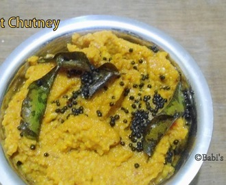 Carrot Chutney / Dip  | Side Dish for Idli / Dosa | No coconut chutney recipe